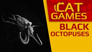 CAT GAMES - Black octopuses (Video for Cats to watch) 1 Hour