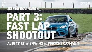 Audi TT RS vs BMW M2 vs Porsche 718 Cayman S: fast lap shootout thumbnail