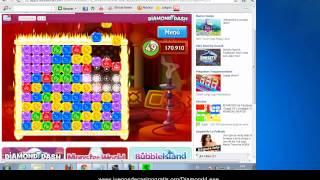 Hack Diamond Dash Facebook 1.000.000 puntos 2012