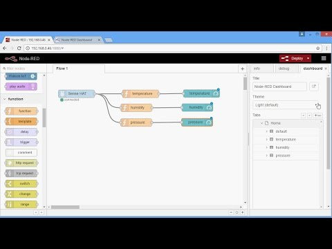 Raspberry Pi with Node-RED Tutorial #2 – Make a user interface