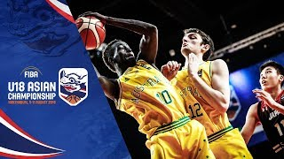 Australia v Japan Quarter Finals Full Game FIBA U18 Asian Chionship 2018
