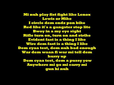 Vybz Kartel - Cya Test We Lyrics [Phase One Riddim] August 2014