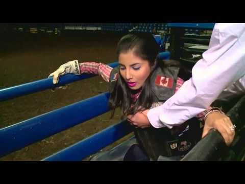 LIVE: Maleeha Sits On A Bull Ahead Of The Professional Bull Riders Finals