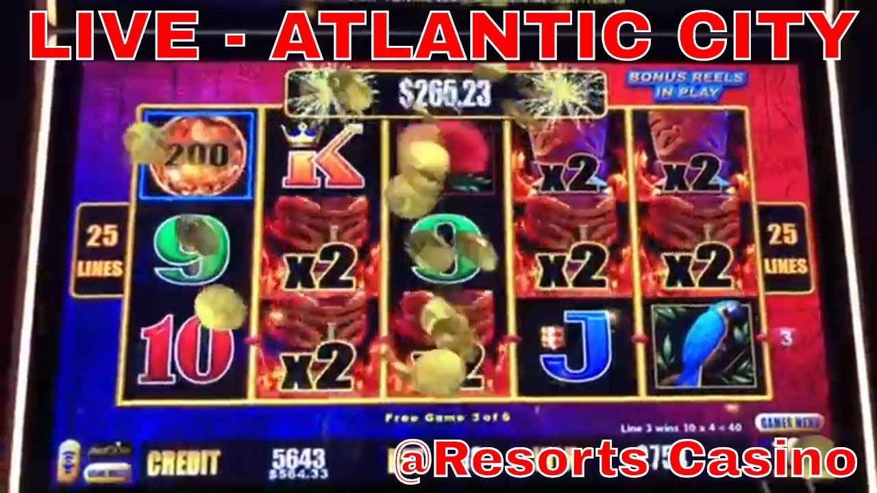 ????LIVE from Atlantic City Casino - Brian Christopher Slots at RESORTS