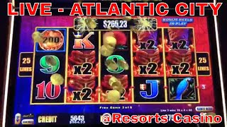 🔴LIVE from Atlantic City Casino - Brian Christopher Slots at RESORTS
