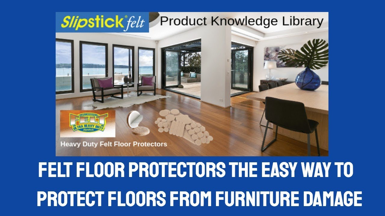 Felt Floor Protectors Stop Furniture U0026 Chairs From Scratching Wood Floors    YouTube