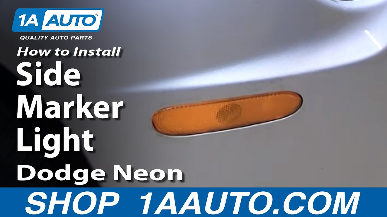 How To Install Replace Side Marker Light Dodge Plymouth ...