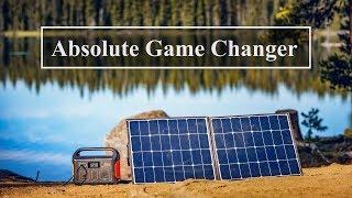 Jackery Explorer 500 and 100 Watt Solar Panel