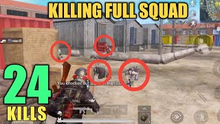 Aggressive Gameplay   24 Kills Vs Squad   PUBG mobile