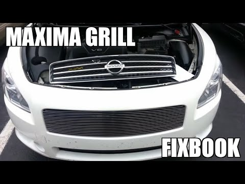 "Grill Install 09-14 Nissan Maxima ""How to"""