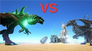 Indominus Rex vs Alpha Deathworm || ARK: Survival Evolved