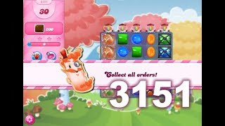 Candy Crush Saga Level 3151 (3 stars, No boosters)