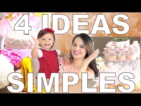 4 Ideas para tu fiesta, fáciles y de bajo presupuesto