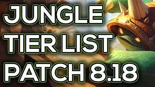 Jungle Tier List Patch 8.18   Best Junglers To Carry Solo Queue Patch 8.18 League of Legends
