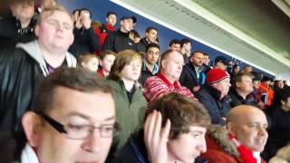 bristol city fans chanting to the liquidator v wba