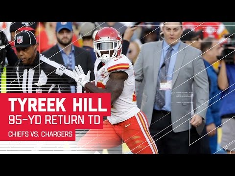 Tyreek Hill's Explosive 95-Yard Punt Return TD! | Chiefs vs. Chargers | NFL Wk 17 Highlights