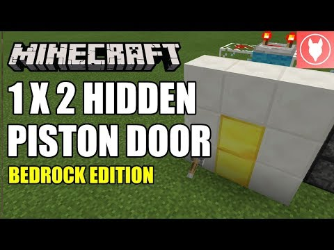Minecraft Bedrock - Hidden Piston Door/ Half Jeb Door Tutorial ( Xbox / MCPE / Windows 10 / Switch )