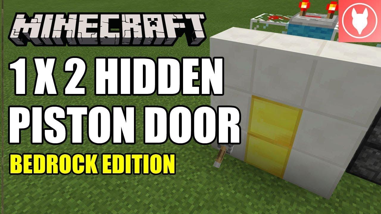Minecraft Bedrock Hidden Piston Door Half Jeb Door Tutorial Xbox Mcpe Windows 10 Switch Youtube
