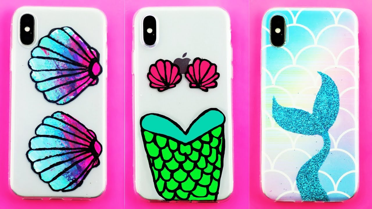 DIY Mermaid Phone Cases! DIY iPhone X cases you NEED to ...