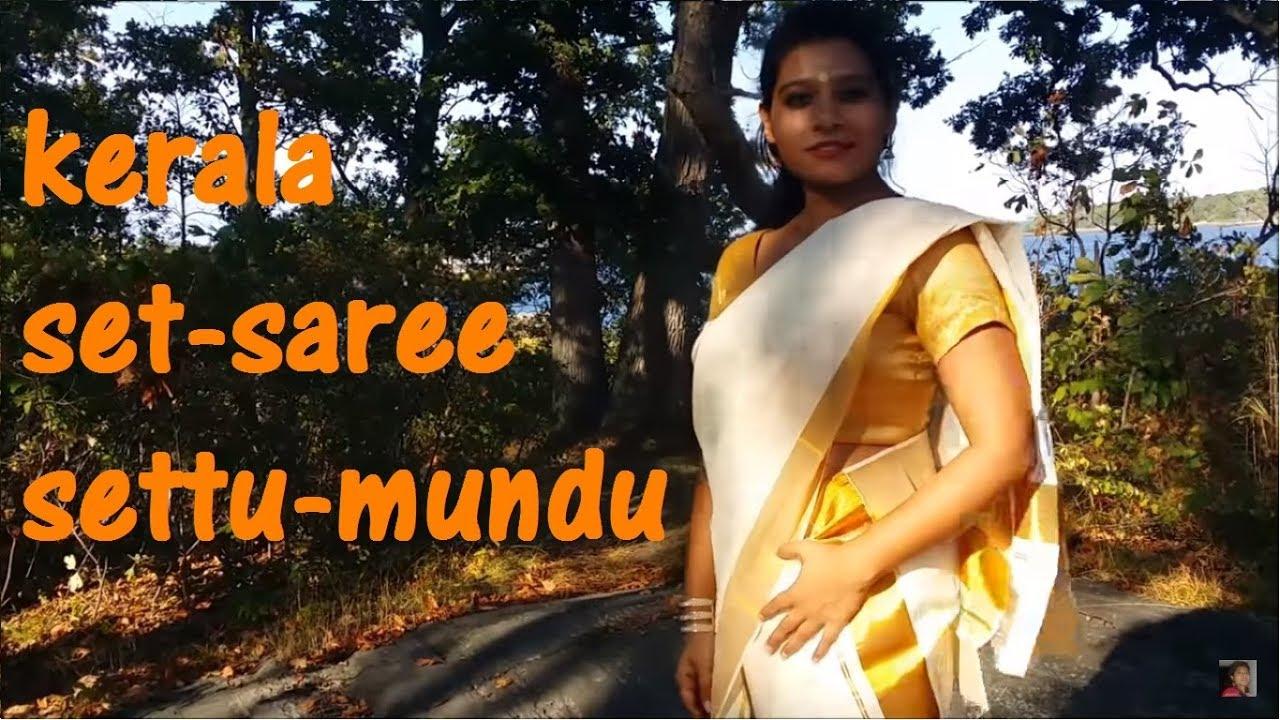 d7ae4e8659 Kerala set saree, Settu-Mundu drapes | 2 ways (+sub) - YouTube