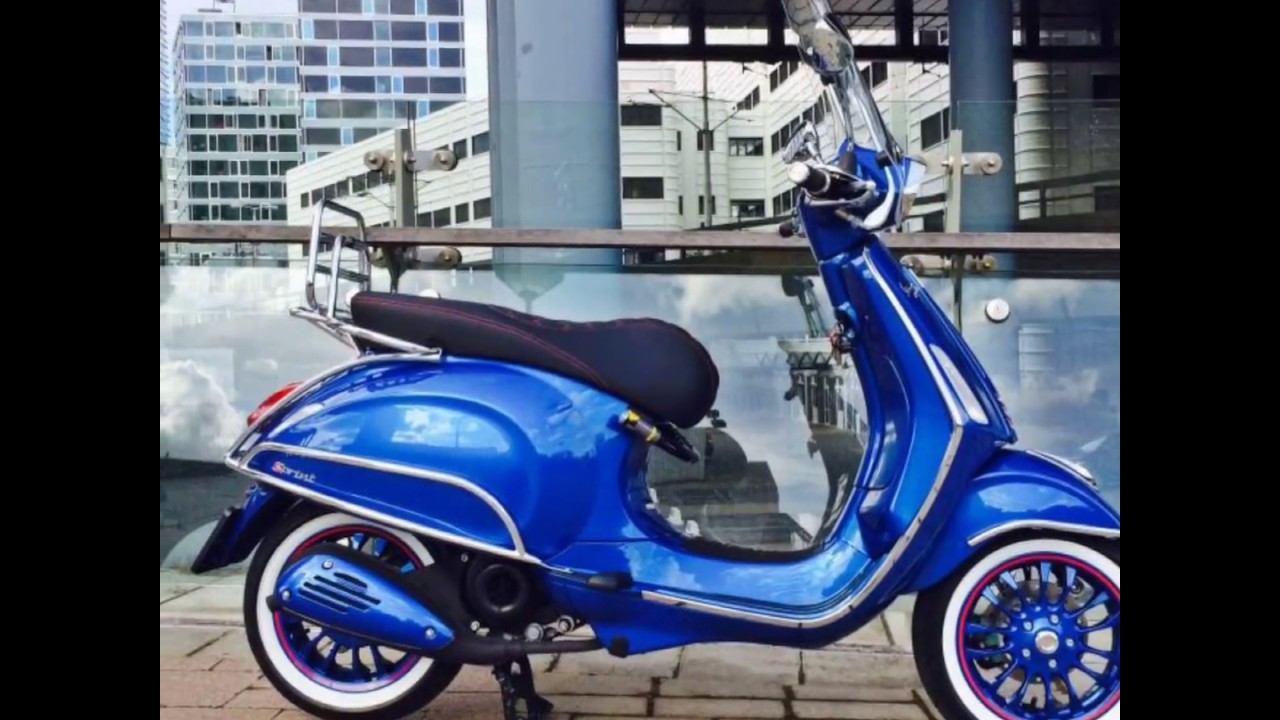 vespa sprint 4t 2v 50 cc custom dutchwesp youtube. Black Bedroom Furniture Sets. Home Design Ideas
