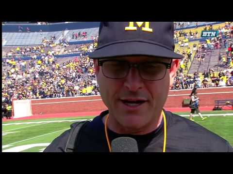 Jim Harbaugh Postgame Interview - Michigan Spring Football