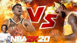NBA 2K20 LEBRON JAMES VS GIANNIS ANTETOKOUNMPO!! EPIC BATTLE