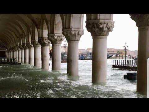 Históricas inundaciones en Venecia. Imágenes de Venecia inundada debido al temporal en Italia