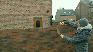 building garage part 1 brickwork