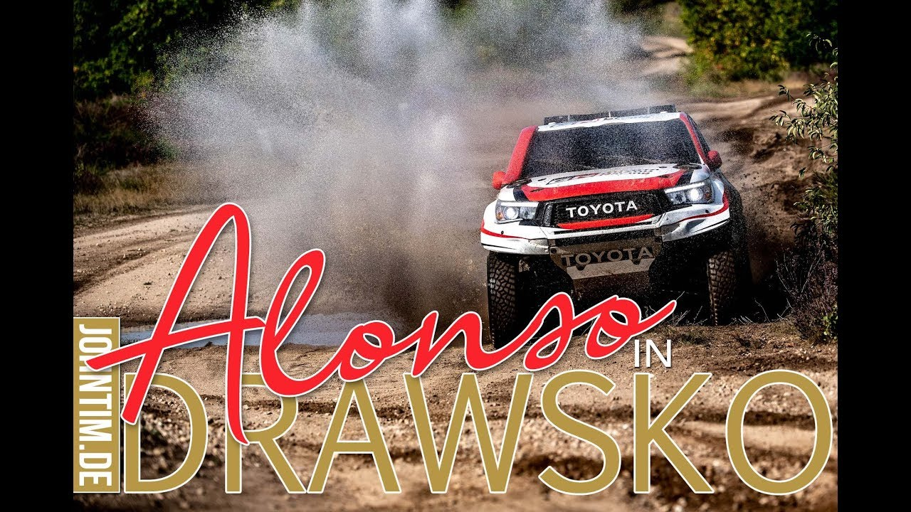 Dakar 2020 Fernando Alonso Testing Toyota Hilux In The Drawsko Pomorskie Military Grounds