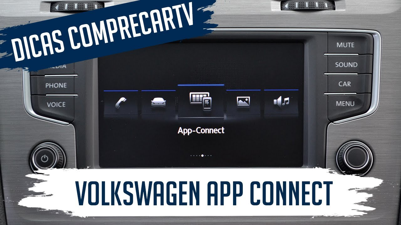 como usar o volkswagen app connect espelhamento do. Black Bedroom Furniture Sets. Home Design Ideas