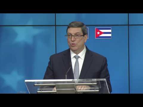 Discuro de Bruno Rodriguez  tras Acuerdo Cuba Unión Europea