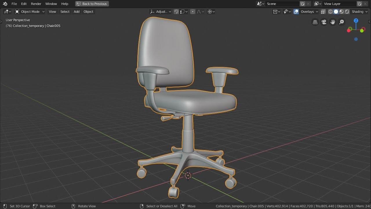 Midweek Post Blender 2 8 Modeling An Office Chair Part 2 Youtube