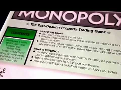 London Olympic Games 2012 Monopoly Edition Board Game Rules Speed