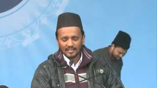 Jalsa Salana Qadian 2012 1ST Day 1ST Session Moulvi Tanveer Ahmad Nasir Sahib during Nazm Recitation