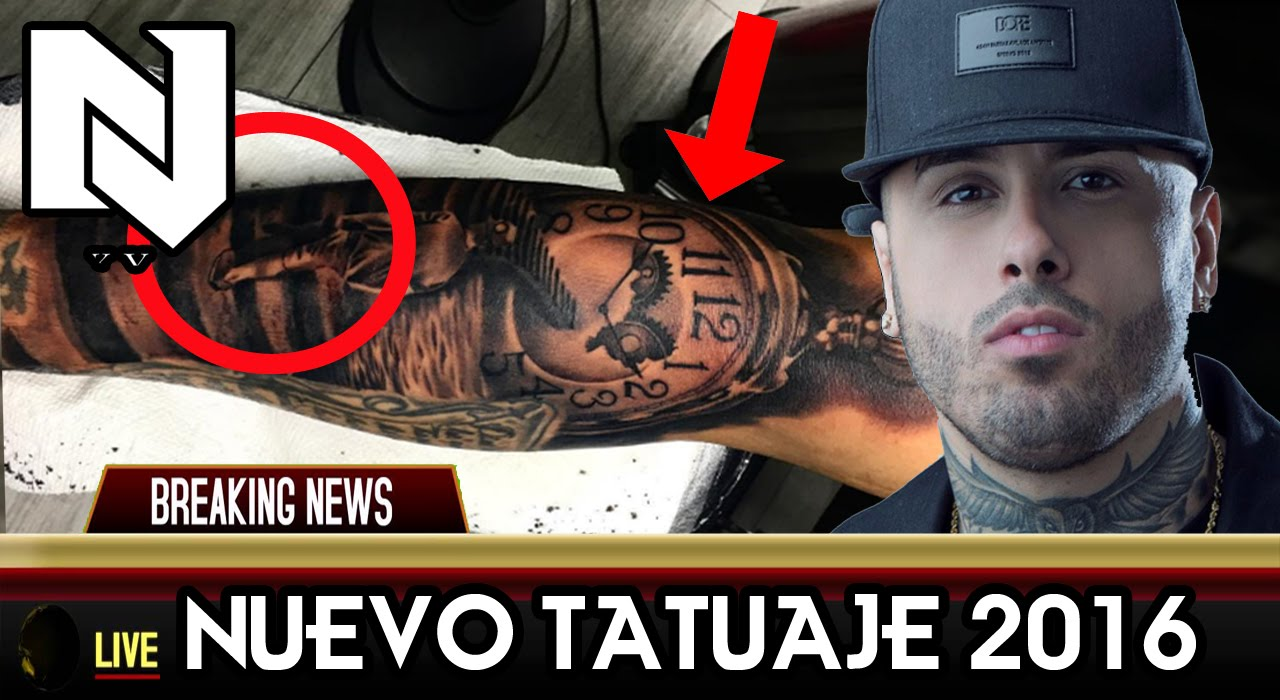 Tatuajes De Famosos El Ultimo Accesorio De Moda: Nicky Jam Haciéndose Un Nuevo Tatuaje En El Brazo 2016