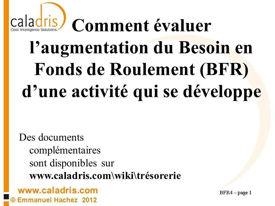 Bfr 4 Comment Calculer L Augmentation Du Besoin En Fond De Roulement