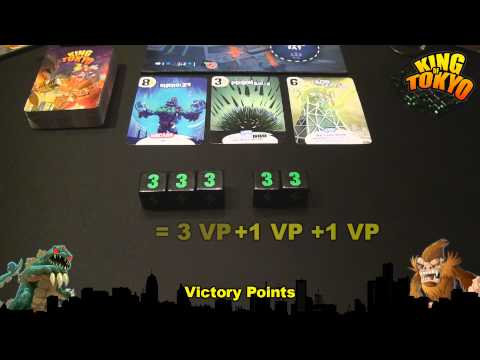 Drakkenstrike's King of Tokyo Components Breakdown Video Review in HD