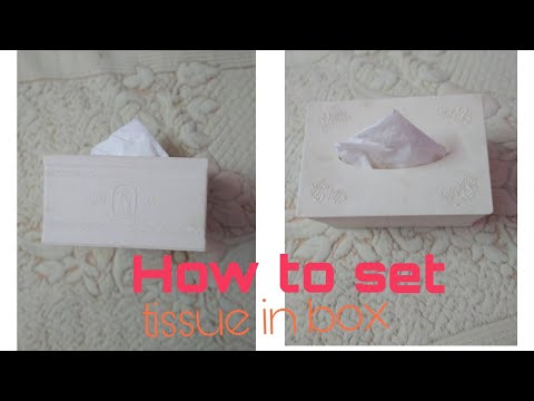 How To Set Tissue Paper In Box (part 1)  | Fun With Mehaak