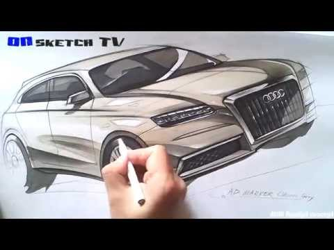 "온스케치 TV Car Sketch - ""AUDI Roadjet Concept Sketch (Color Pencil+AD Marker)"""