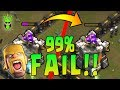 THE WORST FAIL IN COC HISTORY!! - 99.999% 2 Star War Attack! - Clash of Clans - TH9 Witch Slap Fail
