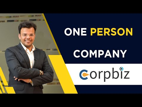 वन पर्सन कंपनी की पूरी जानकारी | One Person Company (OPC) Registration and Compliance's | Corpbiz from YouTube · Duration:  8 minutes 46 seconds