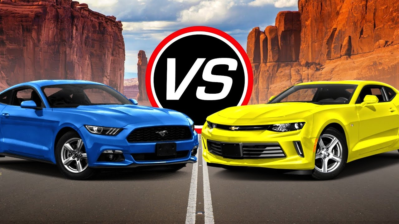 2016 Ford Mustang EcoBoost i4 vs Chevy Camaro LT - Spec Comparison! - YouTube