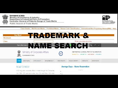 Check the company name availability with MCA and trademark search before  incorporating a company