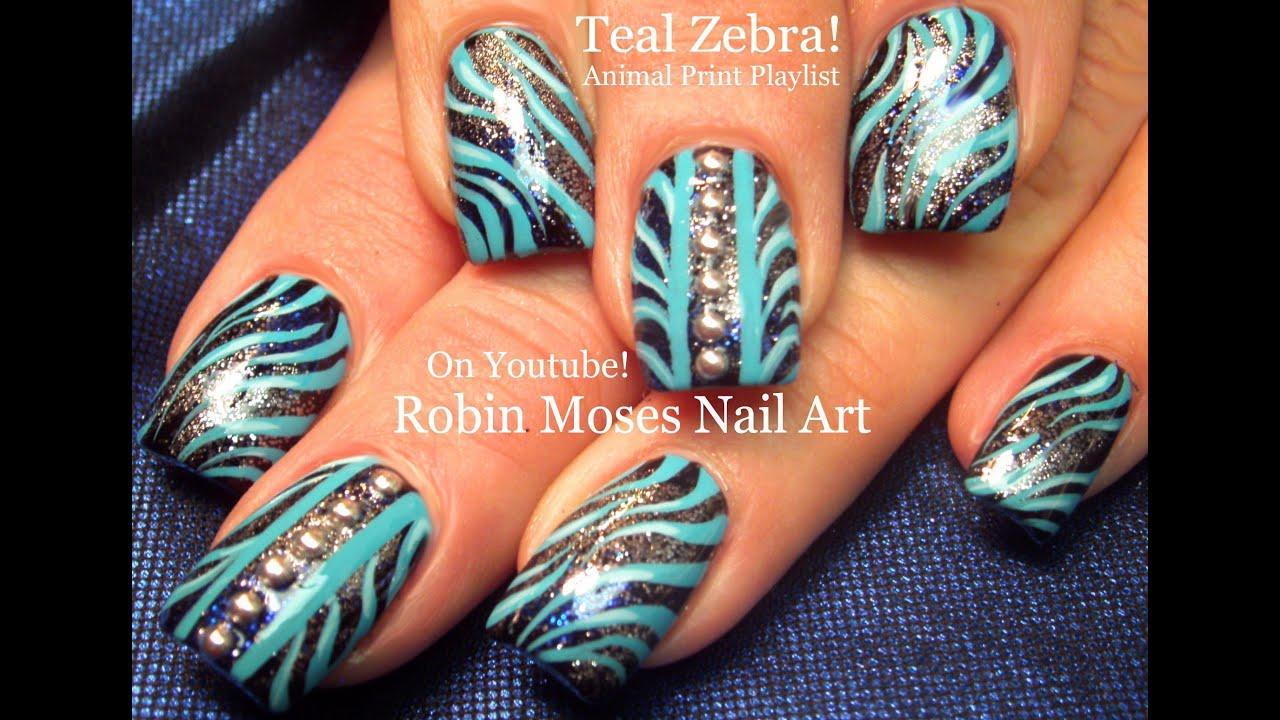 hot zebra nails diy animal print