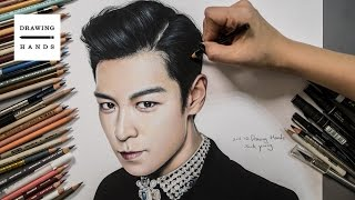 빅뱅 - 탑 그림 그리기 (Speed Drawing BIGBANG- T.O.P ) [Drawing Hands]