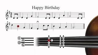 Happy Birthday - Violin Tutorial