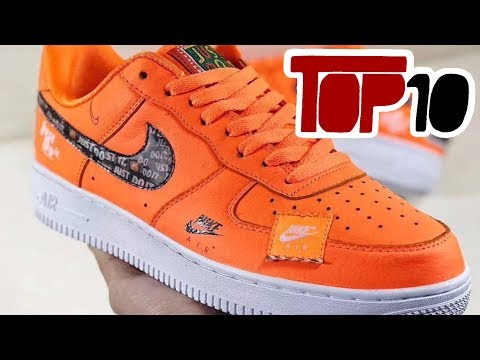 Top 10 Nike Air Force 1 Shoes Of 2018