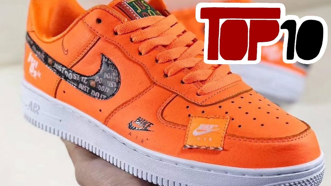 Nike Air Force 1 Shoes Top 10 Nike Air Force 1 Shoes Of 2018 - YouTube
