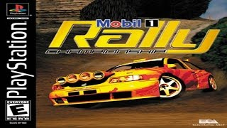 Mobil 1 Rally Championship PS1 Gameplay